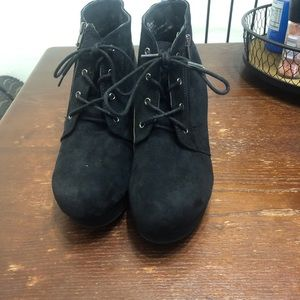 Size 11 Black suede booties